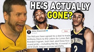 Lonzo Ball has been traded. I am devastated
