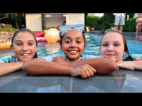 Ruby Rube & Rosie ARE IN MY SWIMMING POOL Best Outdoor Playground