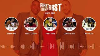 First Things First audio podcast(6.7.18) Cris Carter, Nick Wright, Jenna Wolfe | FIRST THINGS FIRST