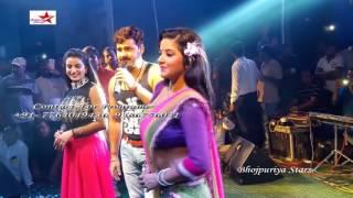 Pawan Singh Monalisa Akshara Singh Arkestra Recording Dance Live Stage Show #Bhojpuri News