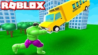 TURNING INTO THE HULK IN ROBLOX