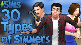 The Sims: 30 Types of The Sims Players!