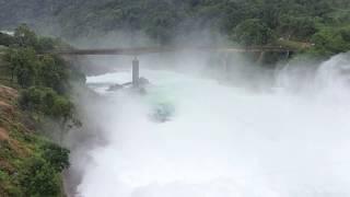 Meghalaya Dam Emergency water Discharge caught on tape