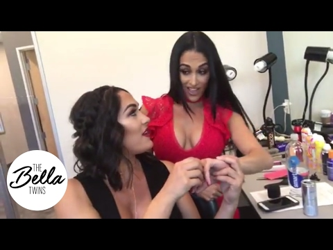 Brie Bella s reaction to Nikki s engagement ring is priceless 💎💎💎