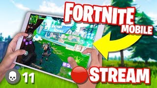 Fortnite Mobile NOOB to PRO Player Challenge // 30+ WINS // 4 Finger Claw HANDCAM