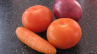 Easy tomato carrot onion soup - Superfood Simple and Healthy