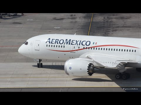 AeroMéxico Boeing 787 8 Dreamliner N961AM Landing at Santiago de Chile SCL SCEL