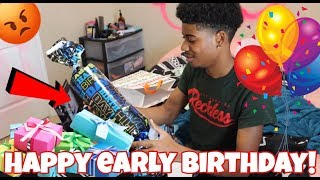 TRAY'S BIRTHDAY PRESENTS PRANK!!