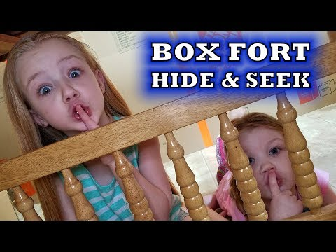 HIDE AND SEEK CHALLENGE in a HUGE Box Fort