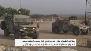 كاميرا الجزيرة ترافق إحدى مجموعات القسام على حدود غزة