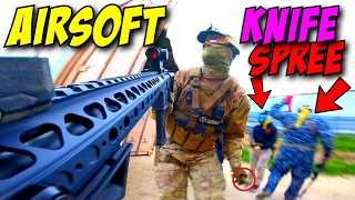 Player KICKED OUT of Airsoft Game - SC Village Knife Rampage