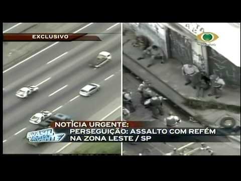 Perseguição acaba em acidente Brasil Urgente BAND 09 12 2008