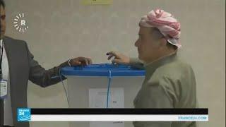 استفتاء كردستان: مسعود بارزاني يدلي بصوته في أربيل