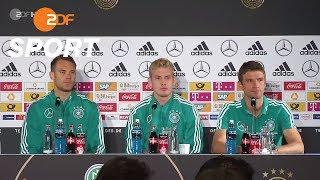 DFB-Pressekonferenz mit Neuer, Müller & Brandt - 04.09.2018 | UEFA Nations League - ZDF