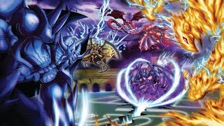 YuGiOh Destiny Duels   Egyptian GOD CARDS vs The SACRED BEASTS   CLASH of the TITANS