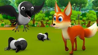 புத்திசாலி நரி மற்றும் காகம் - Clever Fox And Crow 3D Animated Tamil Moral Story For Kids Tales