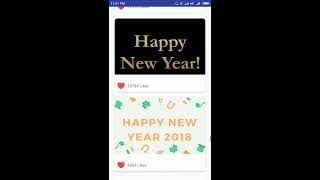 Christmas New Year 2018 GIF Greeting card wishes Best Android App in Play Store