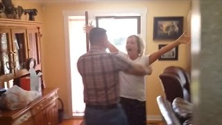 Mom Can't Stop Screaming When Army Son Surprises Her at Home After 4 Years