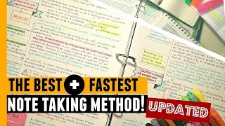 The Best, Fastest Note Taking Method! // UPDATED
