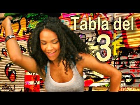Canción de la tabla del 3 Las Tablas de Multiplicar al Estilo Urbano Videos Educativos