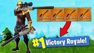 The SNIPER ONLY Challenge! [Fortnite - Battle Royale]