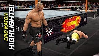 WWE 2K17 - Great Balls Of Fire: Brock Lesnar vs. Samoa Joe! | Epic Match Highlights!