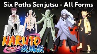 Six Paths Senjutsu - All Forms and Derived Jutsu