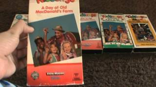 5 Different VHS Versions Of Kidsongs A Day At Old McDonald's Farm