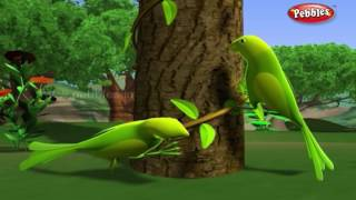 Lazy Parrots | हिंदी कहानी | 3D Moral Stories For Kids in Hindi | Animal Stories in Hindi