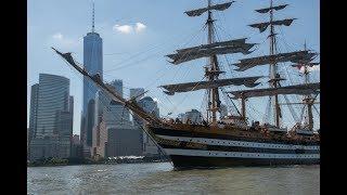 Marina Militare - Nave Vespucci salpa da New York e fa rotta verso il continente europeo
