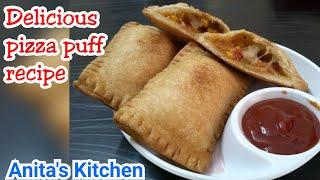 Pizza puff recipe | How to make pizza puff | kids recipe| party time recipe