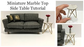 Miniature Marble Top Side Table Tutorial
