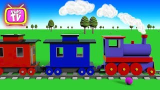 Colors Learn with train and balls. 3D Cartoons for children Video for kids Educational Videos