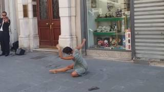 Rima Baransi dancing in Trieste, Italy [Horizontally stabilized]