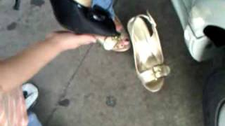 ex girlfriends mom tryin on shoes for me