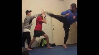 Bren Foster 2017 Training - Scene fights TKD