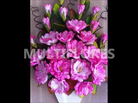 Curso de flores en goma eva de MULTIFLORES