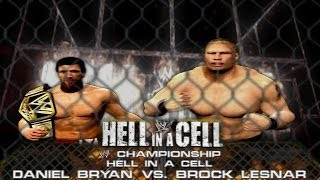 WWE 2K14: Daniel Bryan vs Brock Lesnar - Hell in a Cell - (WWE Championship Match & Custom Promo)