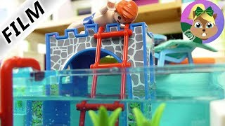 عائلة الطيور: جوليان يقضى الليل فى حمام السباحة! تهور جوليان كالعادة -بلايموبيل فيلم