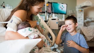 Brother Meets Newborn Sister for the First Time! *emotional*