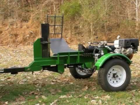 Homemade 30 ton Log splitter with log lift and adjustable 4 way blade