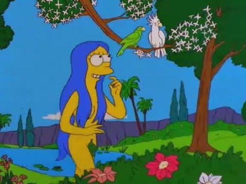 Marge und Homer als Adam und Eva - Simpsons Clips (S10E18)