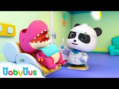 Xxx Mp4 Doctor Panda Cures Baby Dinosaur S Toothache Doctor Pretend Play Kids Song BabyBus Cartoon 3gp Sex