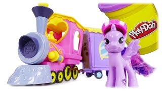 TRAINS FOR CHILDREN My Little Pony Train & Play Doh Cutie Mark Creators Toys for Kids Review