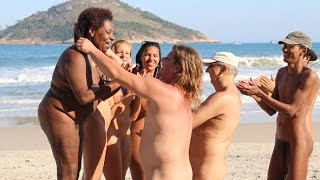 Nudist take part in 'Naked Olympic' on Nude Beach