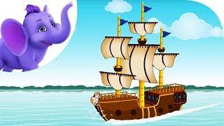 I saw a ship a-sailing - Nursery Rhyme with Karaoke