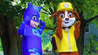 PJ Masks Owlette In Real Life Adventure Saves LOL Surprise from Paw Patrol Game | Ellie Sparkles