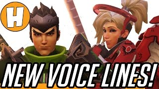 overwatch  new valentines voice lines hanzo and oasis interactions