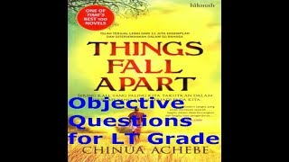 Things Fall Apart by Chinua Achebe- Objective Questions हिंदी में/ for LT GRADE/TGT/PGT EXAM