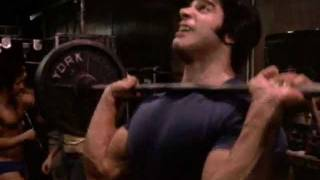 Lou Ferrigno shoulder press - pumping iron segment